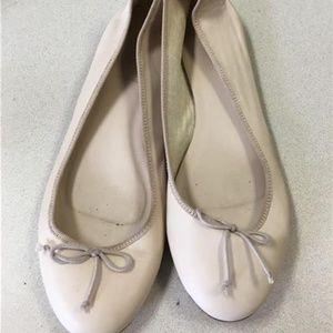 J CREW Ballet FLATS Leather Nude Beige Size 7